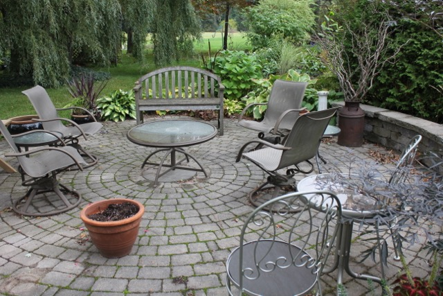 Fall Bare Patio
